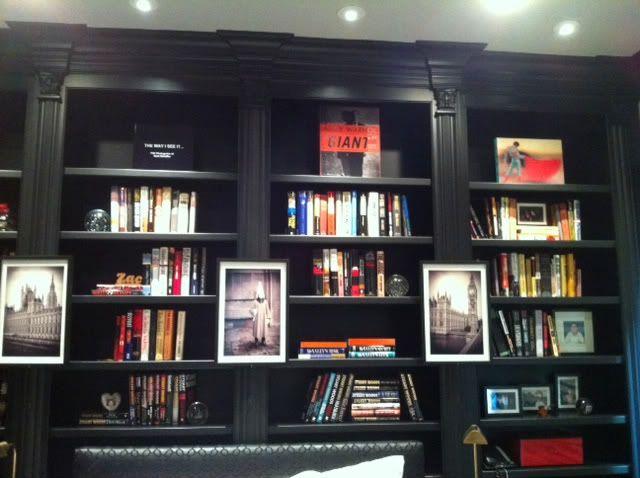 Built In Bookshelves Painted Black