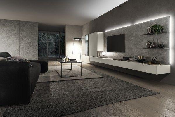 Parete attrezzata componibile I-modulart by Presotto | Soggiorno ...