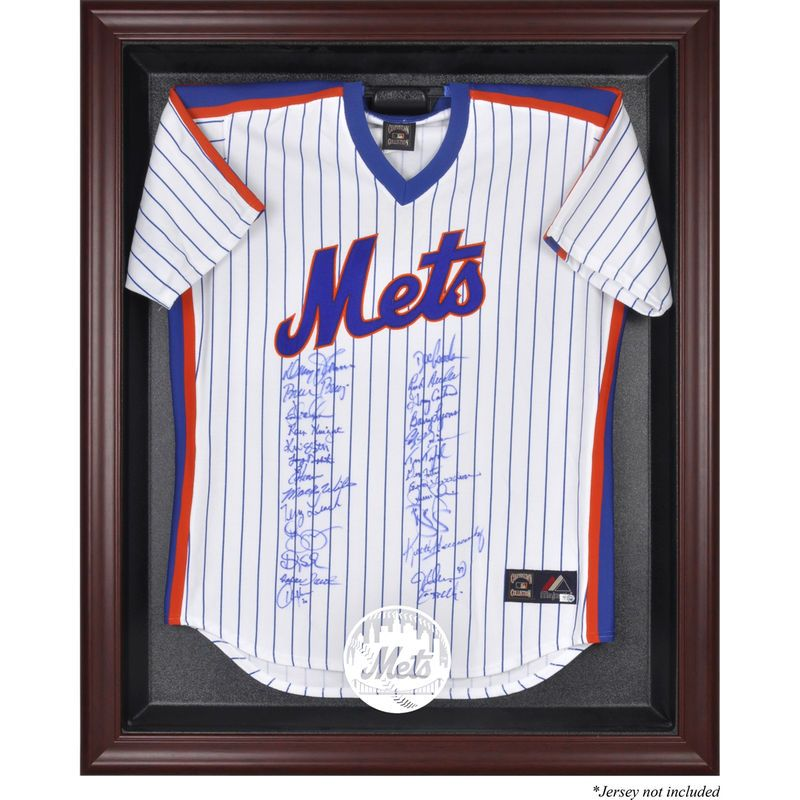 New York Mets Fanatics Authentic Mahogany Framed Logo Jersey Display ...
