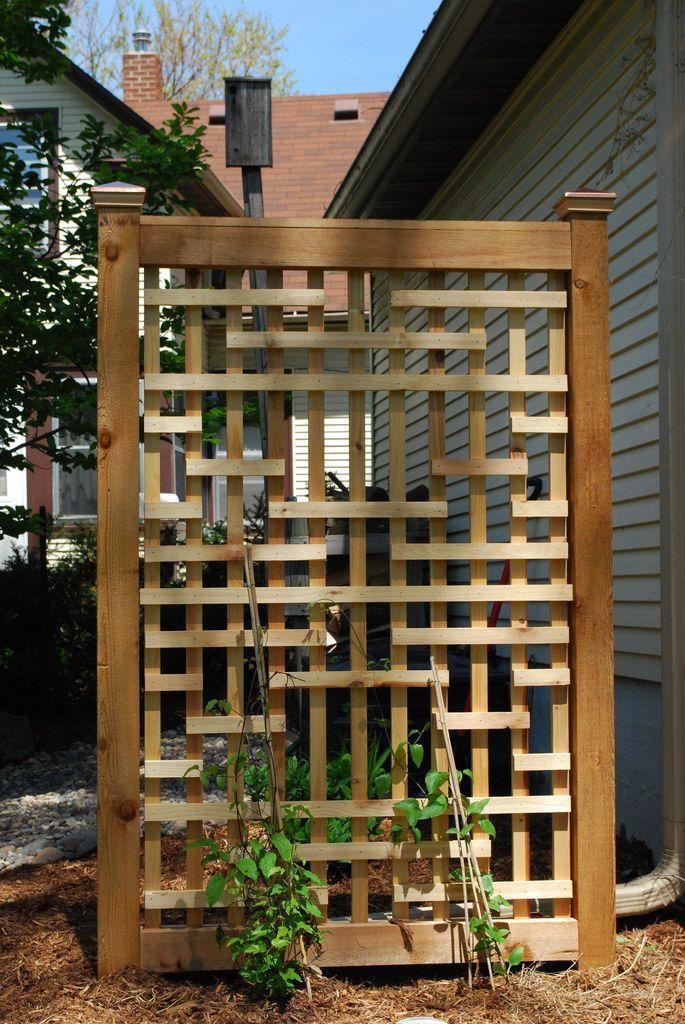 Woodwork Backyard Backyard Pergola Diy Garden Trellis