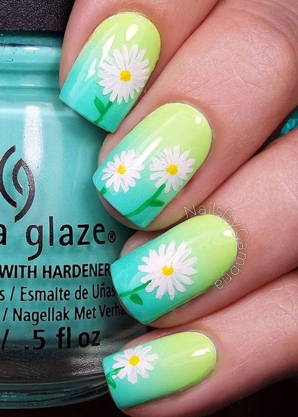 Cute Flower Nail Designs (33) - 101 Cute Flower Nail Designs That're Too Attractive To Handle Nail