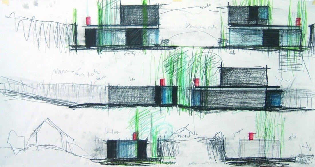 House in Afife,Sketch