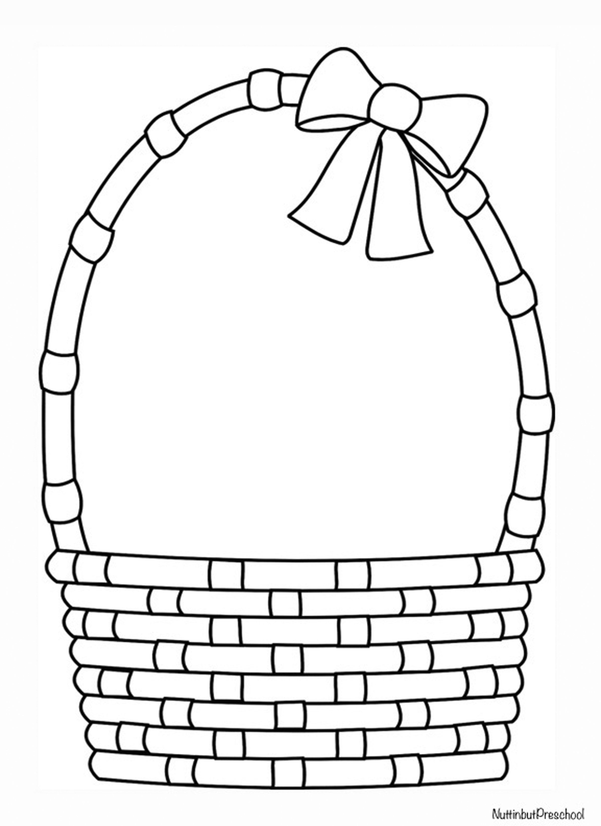Easter Basket Coloring Sheet Or Art Pattern Easter Basket