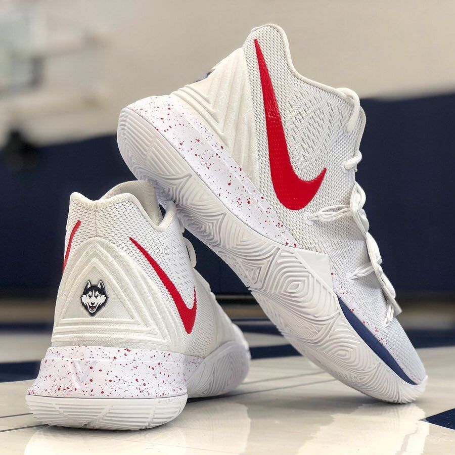 6ebbd85beb1 The UConn Huskies are ready to roll with this new Nike Kyrie 5 PE. For a  closer look