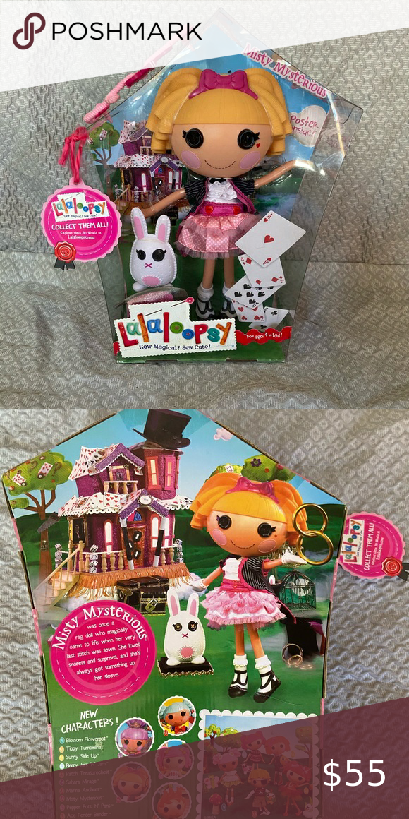 Lalaloopsy Doll Misty Mysterious and her pet bunny