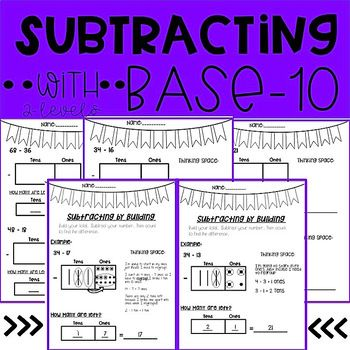 Subtracting with Base Ten- 2 Digit Numbers | Special ...