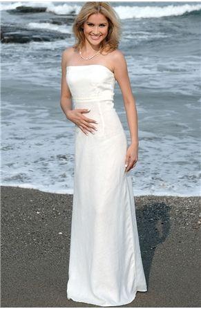 Elegant yet simple linen wedding dress for the beach bride! | Love ...