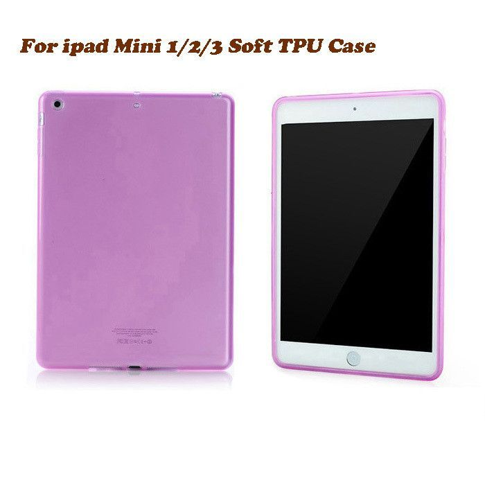 "Slim Matte Soft Transparent TPU Gel Rubber Back Skin Cover for Apple New iPad Mini 1 / 2 / 3 Retina 7.9"" Tablet Protective Case"