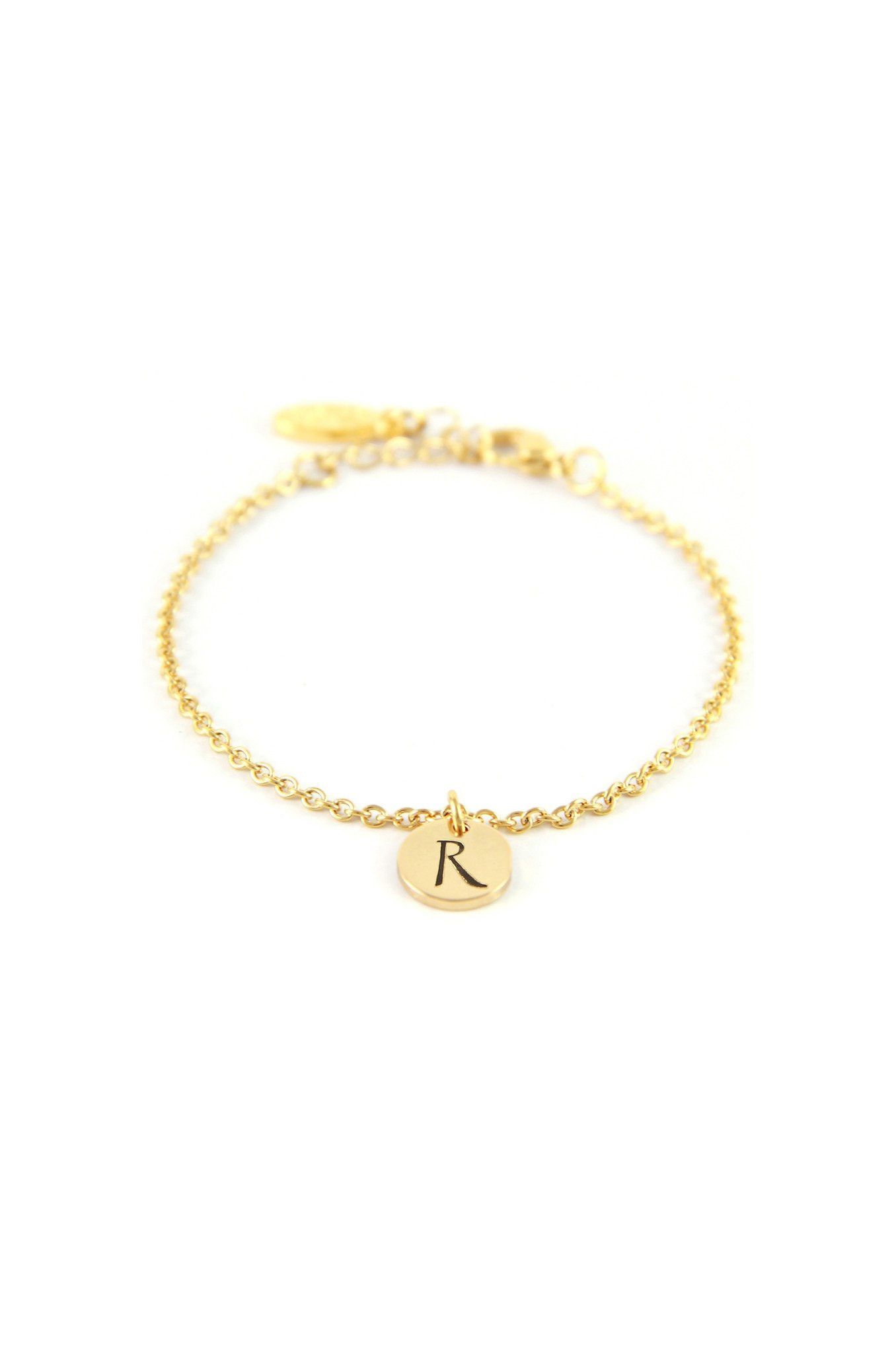 R gold initial bracelet initial bracelet initials and products