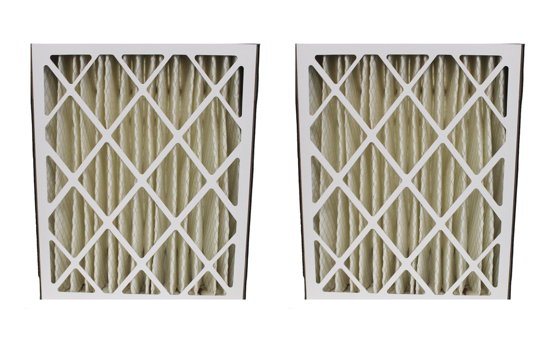 2pk Replacement Merv8 20 x 25 x 5 Pleated HVAC Filters