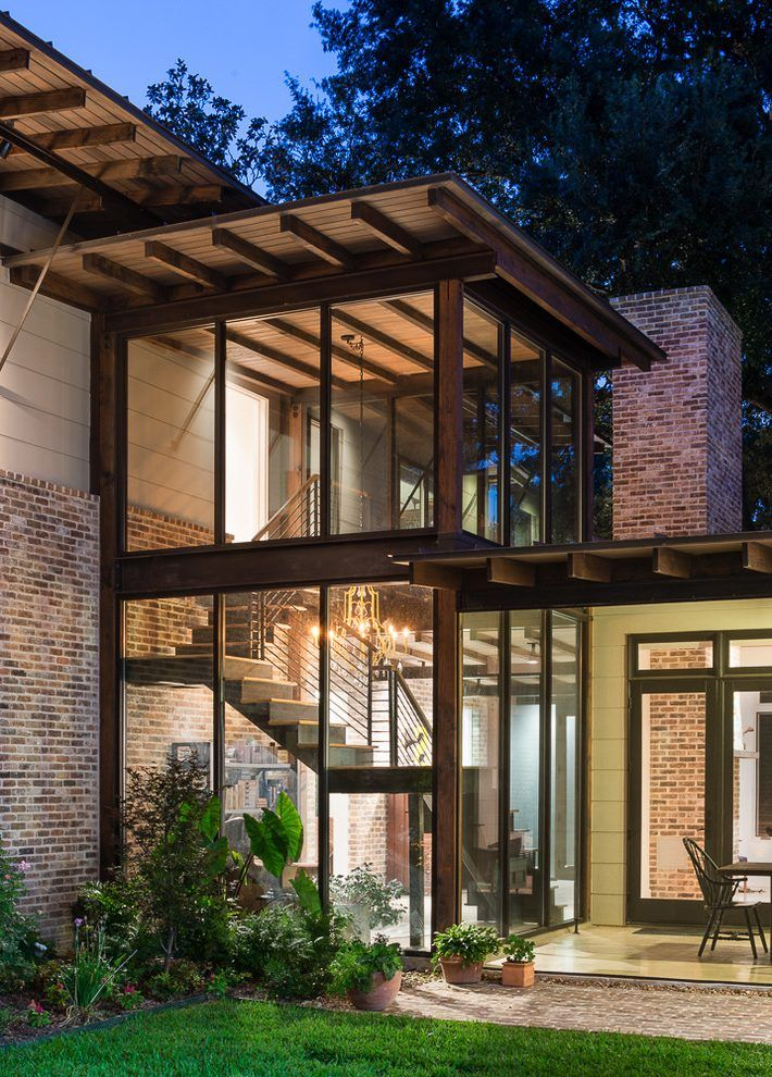 Image Result For Billie Lourd Glass Enclosed Stair Contemporary | Stair Room Exterior Design | 3 Floor Building | Box Type | Brick | Open Plan | Amazing