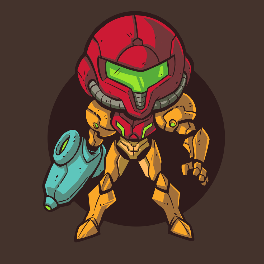 Metroid Tee By DerekLaufman Prime Fan Art Snes Nes Retro Gaming Samus