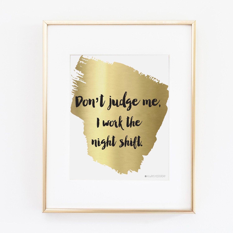 Nurse Gift | Nurse Print | Gift for Nurse | Don\'t Judge Me Printable ...