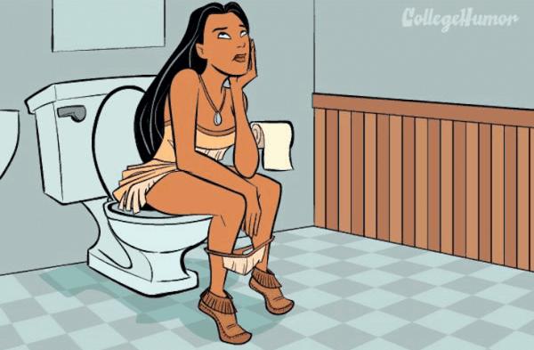 Como seriam as princesas da Disney usando o banheiro?