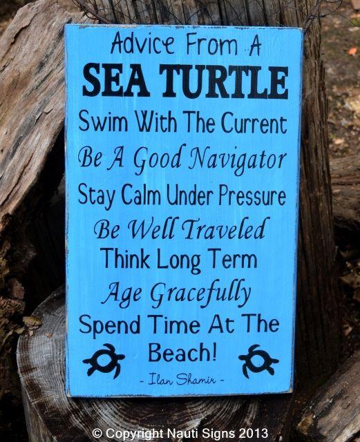beach decor beach wood signs sea turtle decor advice from a sea turtle