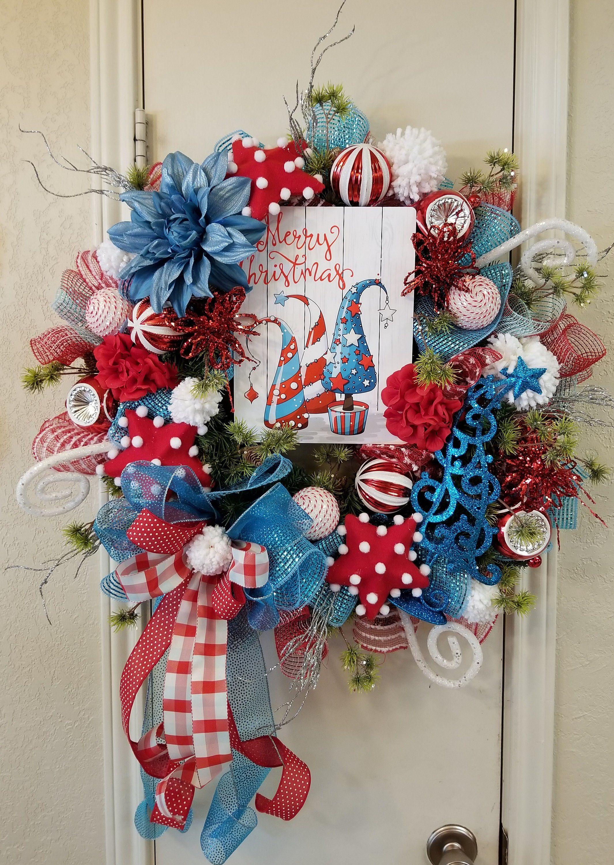 Window frame decor with wreath  merry christmas wreath christmas wreath holiday wreath deco mesh