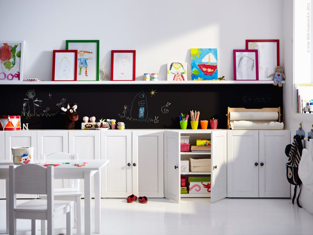 Closed Storage To Hide Toys?  STUVA Storage System (Ikea) For Kids Play Room