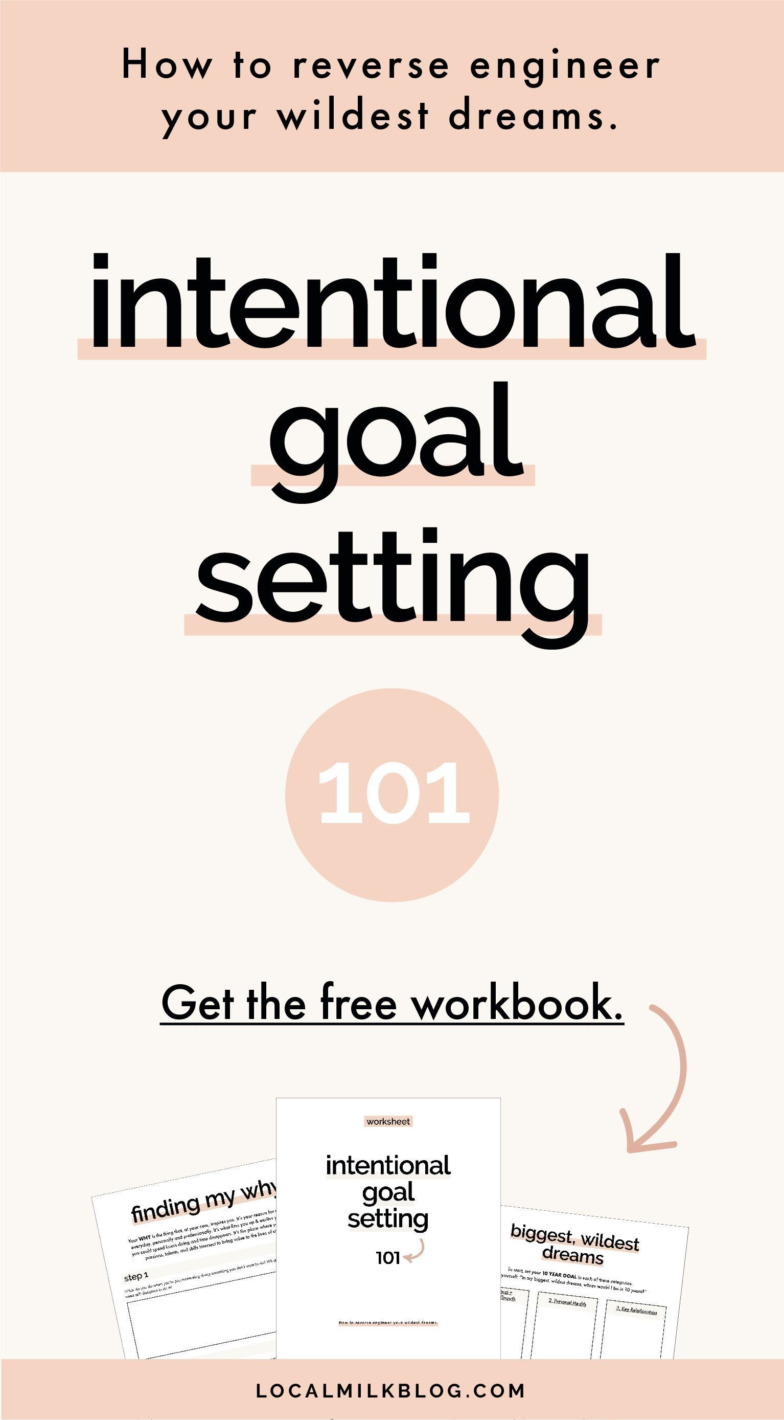 Printable Mindful Intentional Goal Setting Worksheet