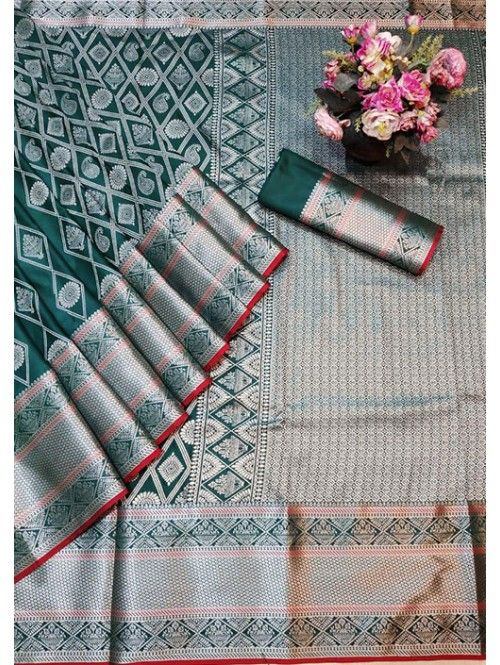 1550 Free Shipping SKU  gnp005762  Banarasi Silk Saree Jacquard With Rich Pallu  1550 Free Shipping SKU  gnp005762  Banarasi Silk Saree Jacquard With Rich Pallu  Visit No...