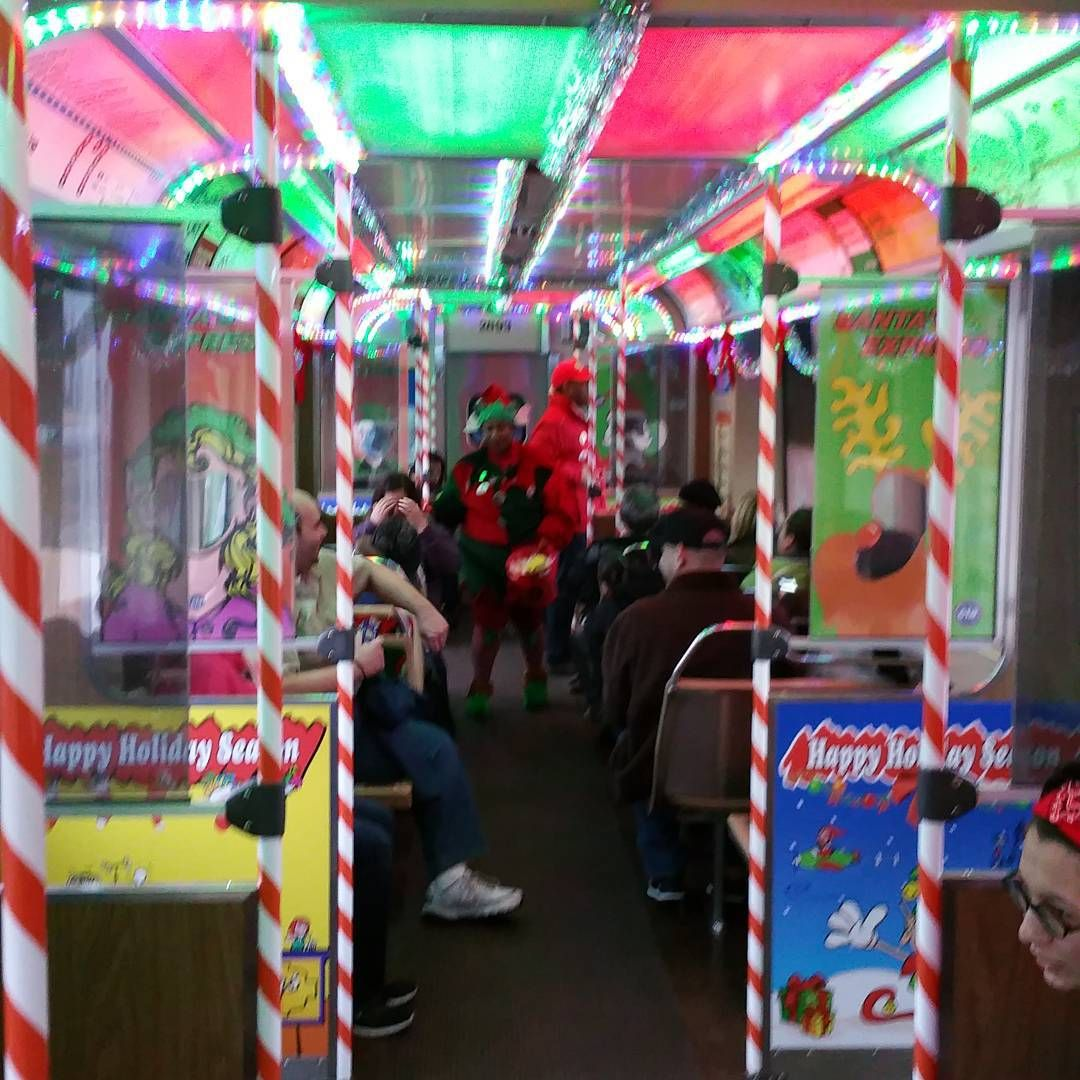 u201cWelcome aboard and happy holidays ctaholidaytrain chicago