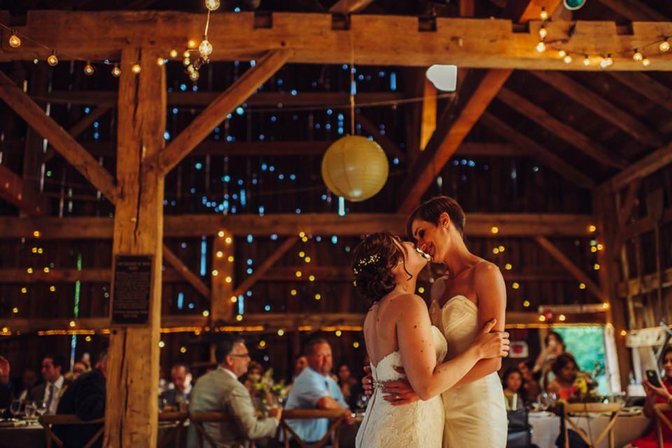 Tara And Mandis Elegant Rustic Barn Wedding In Long Island New York