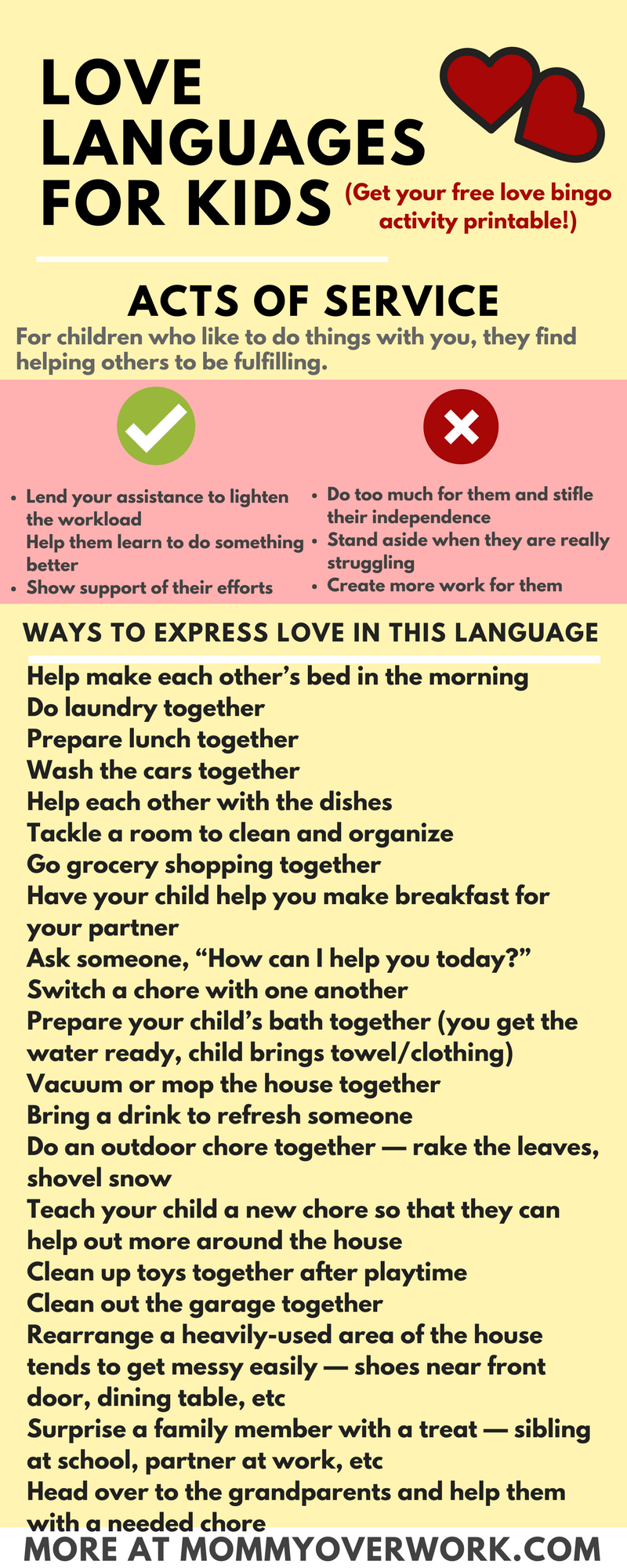 5 Love Languages For Children 100 I Love You S Free Printable