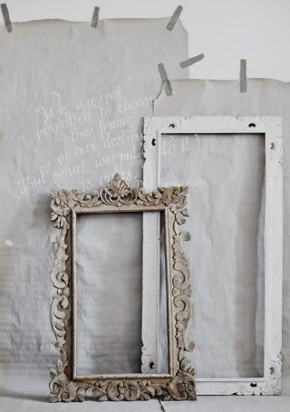 ♕ gorgeous vintage frames. Would love to make these into mirrors ...