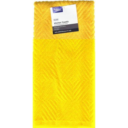 Better Homes And Gardens Kitchen Towel Sunray Yellow Kitchen