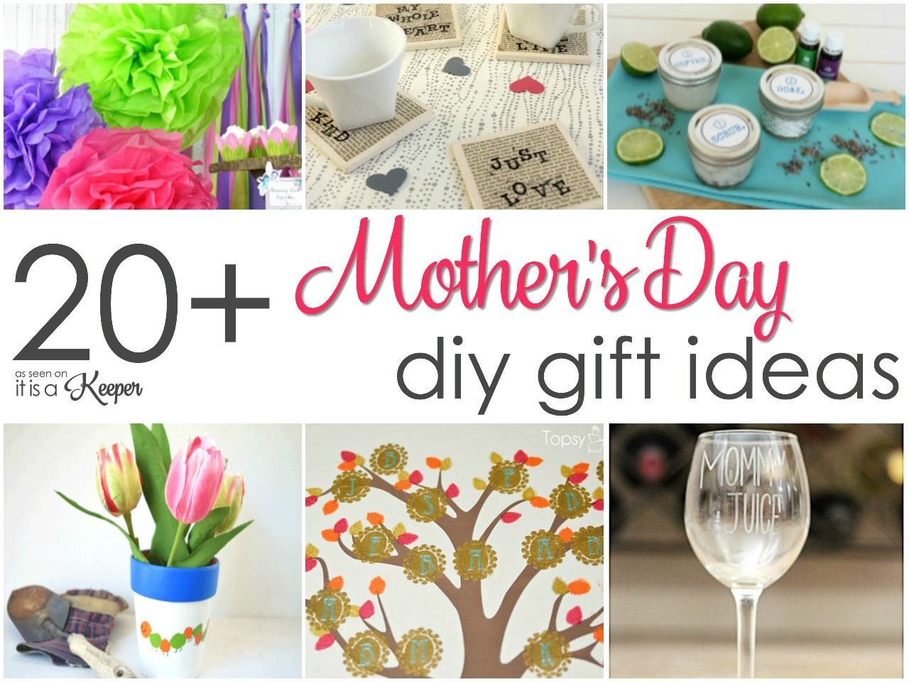 20 easy homemade mothers day gifts mothers day pinterest 20 easy homemade mothers day gifts negle Choice Image