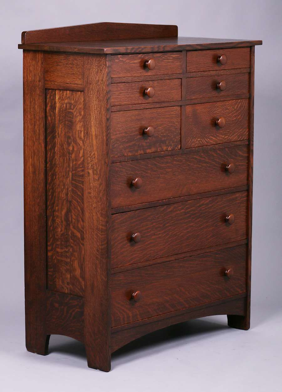 Best Tall L Jg Stickley Nine Drawer Dresser Mission Style 400 x 300