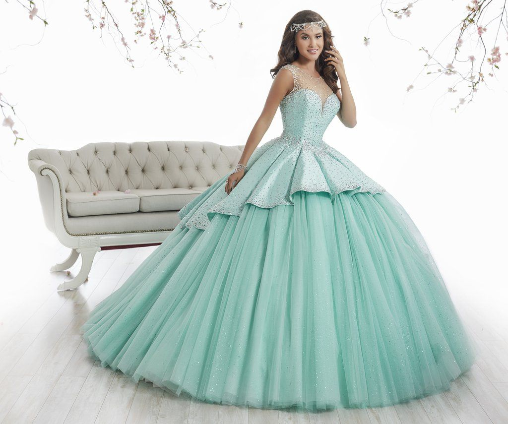 Illusion A-line Quinceanera Dress by House of Wu 2