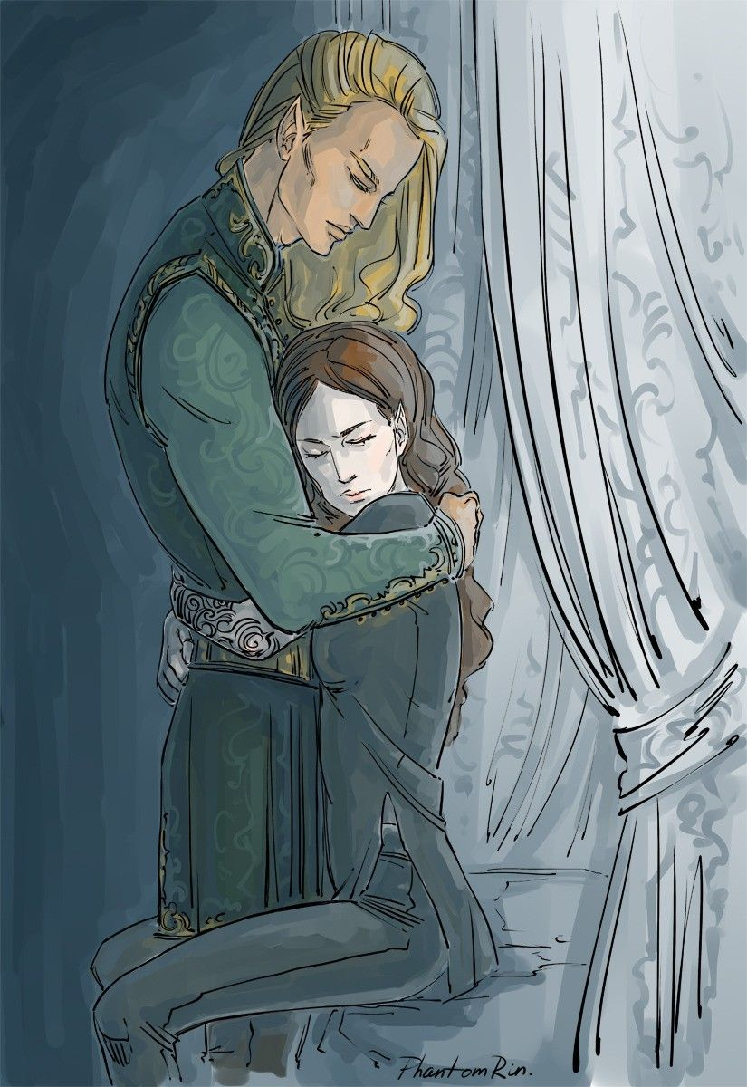 Feyre Com O Tamlin A Court Of Mist And Fury Illustration