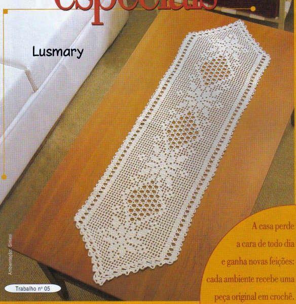 3 diagramas crochet filet de caminos de mesa tejido for Centro de mesa a crochet