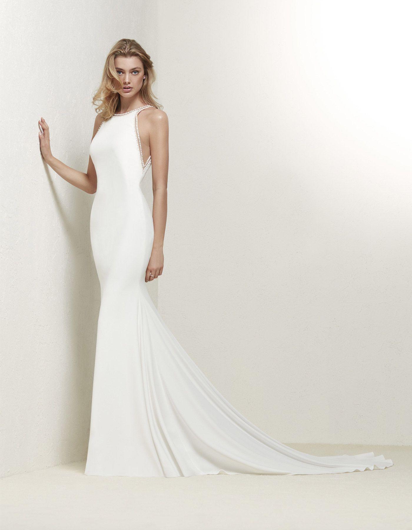 Elegant wedding dress with low back   Drabea by Pronovias. www ...