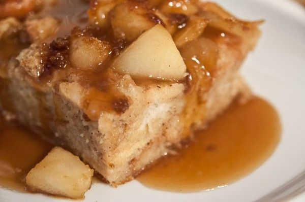 Apple Bread Pudding with Dark Brown Sugar Sauce-And A ...