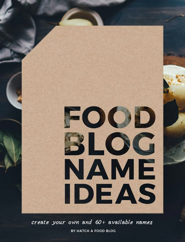 The hardest thing to do when starting a food blog is coming up with a name. You want it to be catchy and memorable, and it also needs to be available…