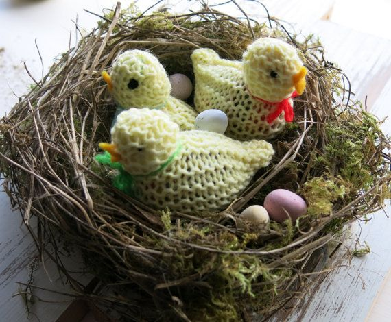 Knitted easter chick easter chick easter egg by itsamessynest items similar to knitted easter chick easter chick easter gifts easter egg cover knitted chick easter egg hunt wedding favours easter display negle Choice Image