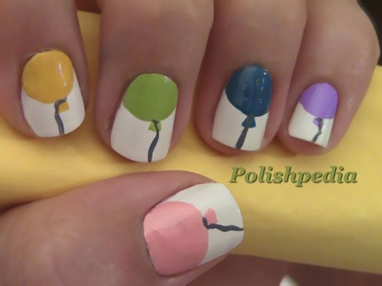 Happy Birthday Nail Art Ideas Designs For Girls 2013
