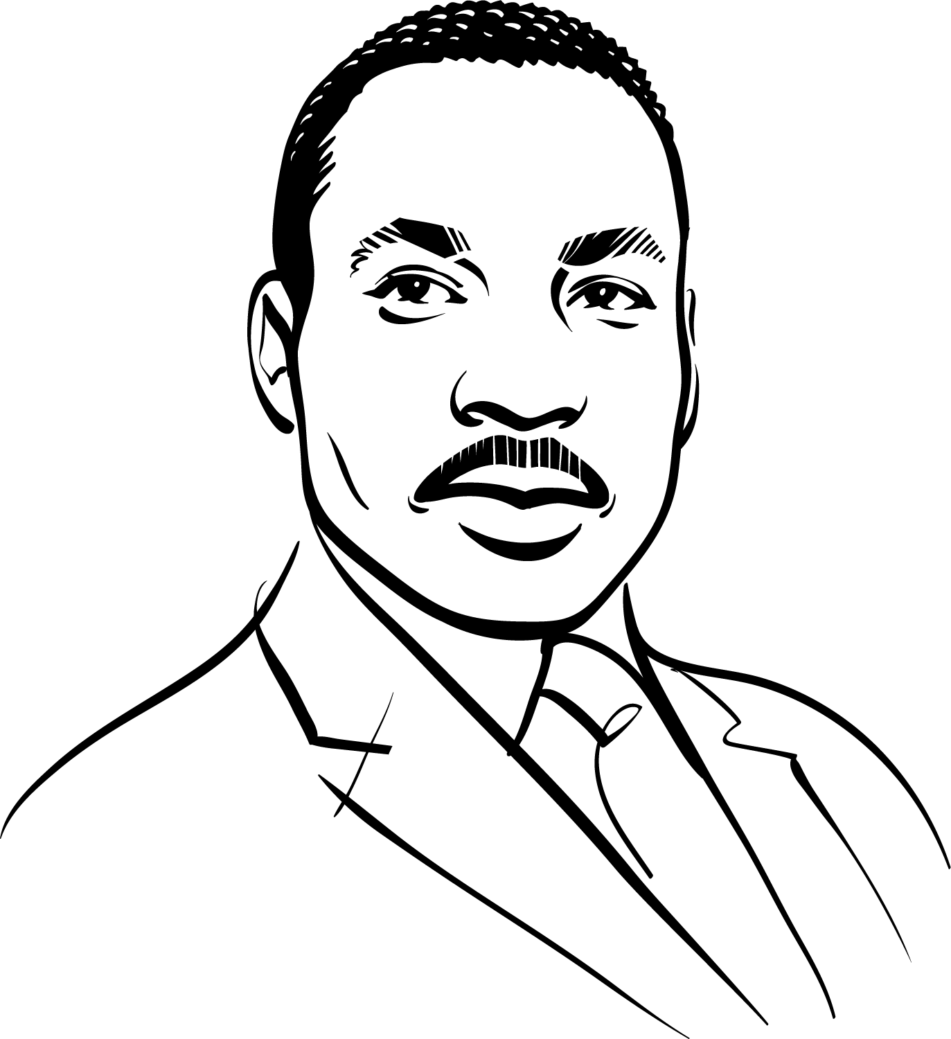 Kathryn Rathke was commissioned to draw Dr. Martin Luther King Jr ...