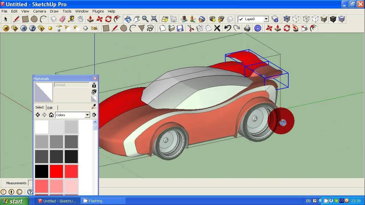 How To Make Simple Car In Google Sketchup Tutorial 2 Programar