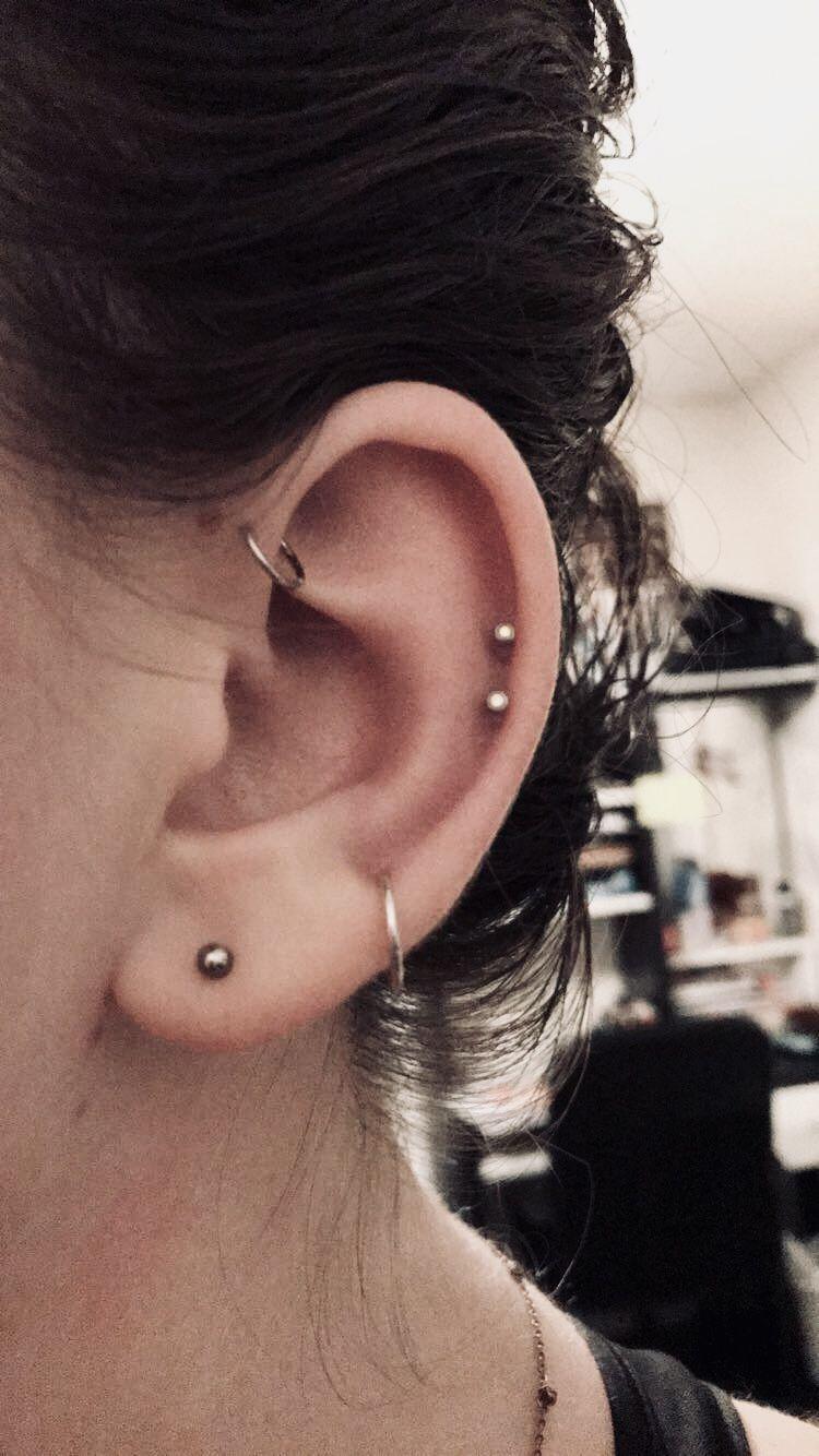 2nd ear piercing ideas  Forward helix u helix  Pretty Piercings in   Pinterest