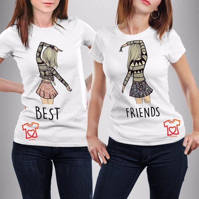d164018c00939 playeras personalizadas para mejores amigas - best friends