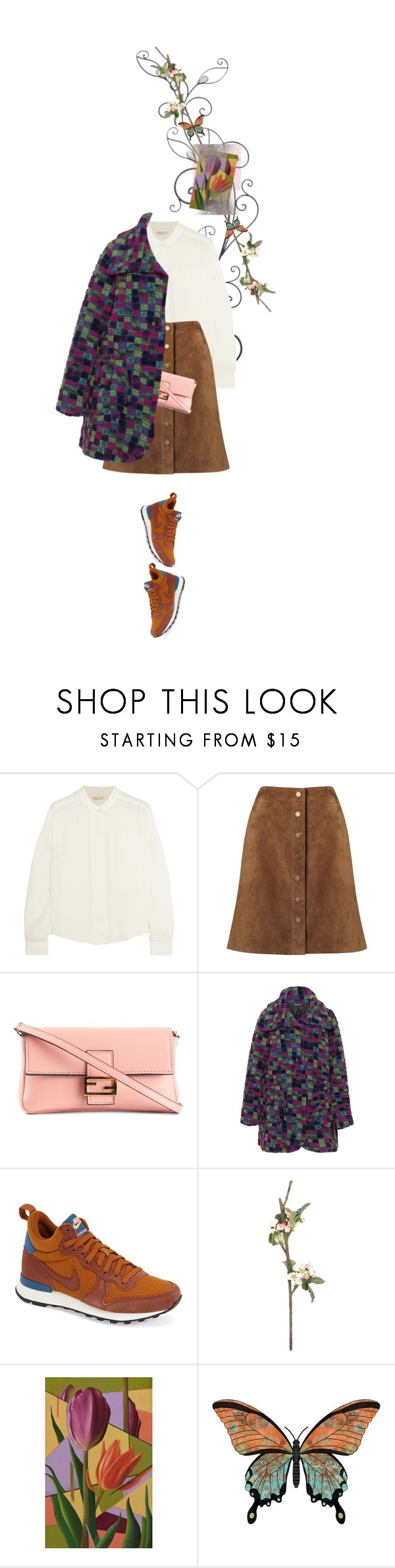 """""""Untitled #1250"""" by maja-z-94 ❤ liked on Polyvore featuring MICHAEL Michael Kors, Phase Eight, Fendi, Transparente, NIKE, Sia and NOVICA"""