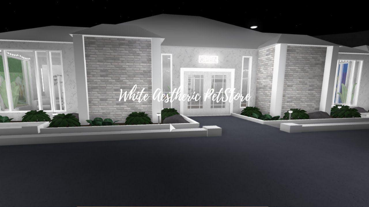 White Aesthetic Pet Store 68k Speedbuild White Aesthetic Building A House House