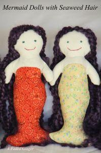 Mermaid Dolls with Seaweed Hair - Free Pattern