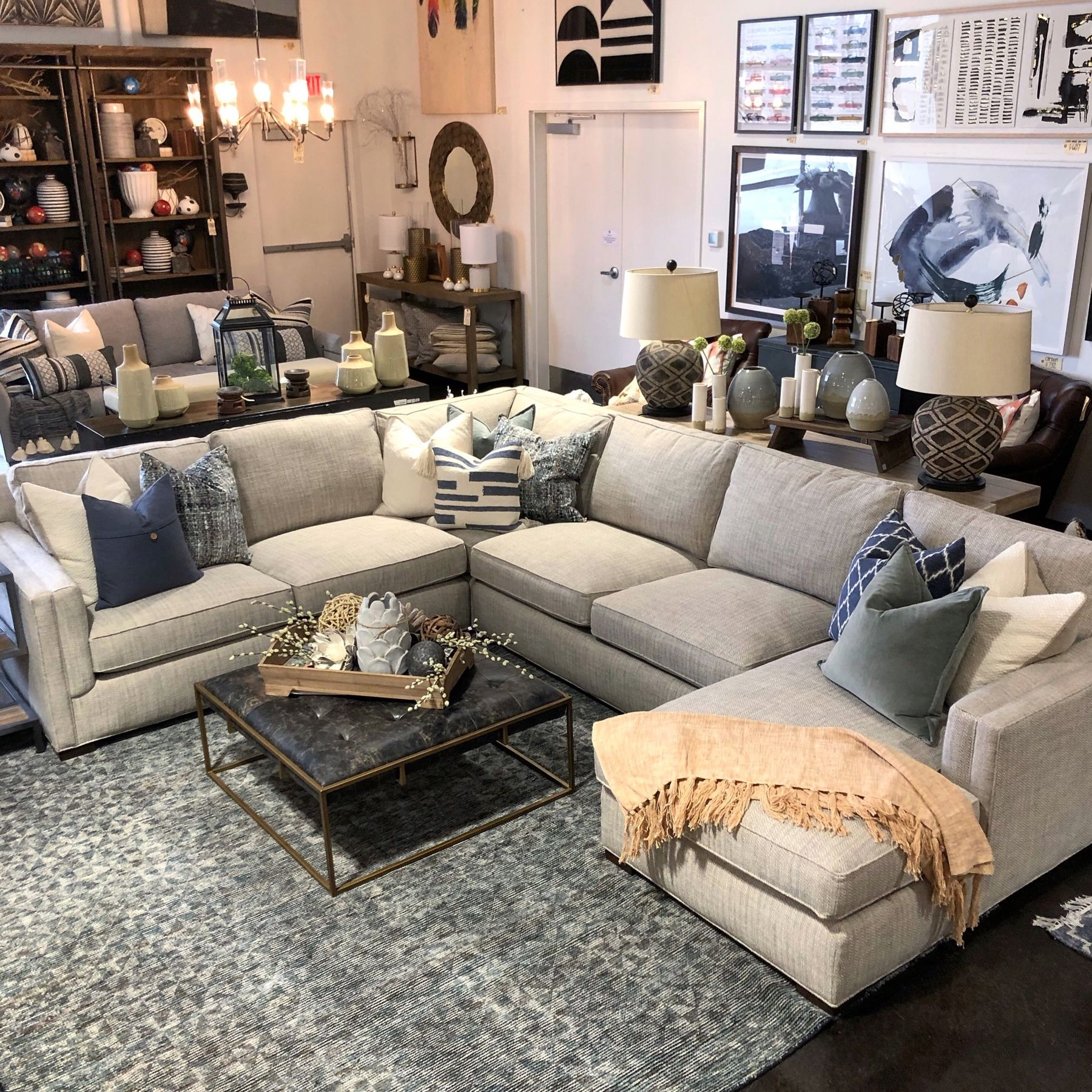 Cozy Up With Your Favorite Accent Pillows And A Soft Throw On The Sophie Sectional Throw Pillows Living Room Couches Living Living Room Sectional