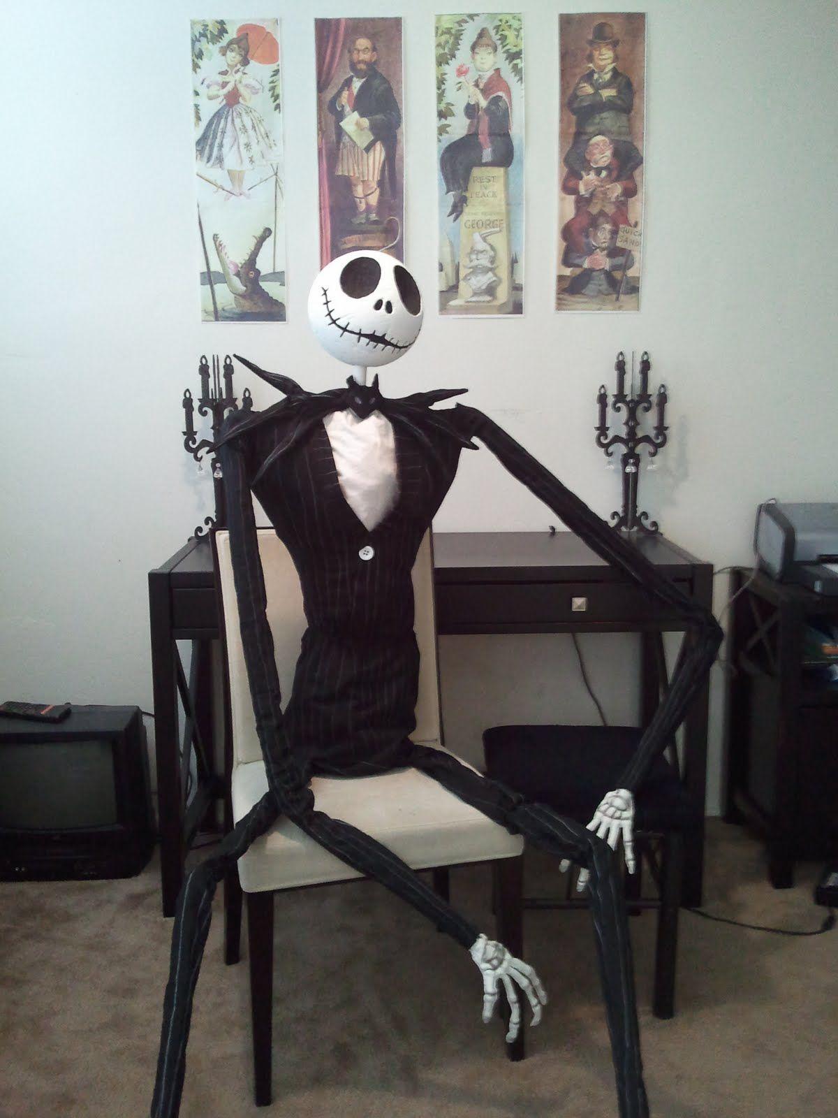 DIY Nightmare Before Christmas Halloween Props: Life-Size DIY Jack ...