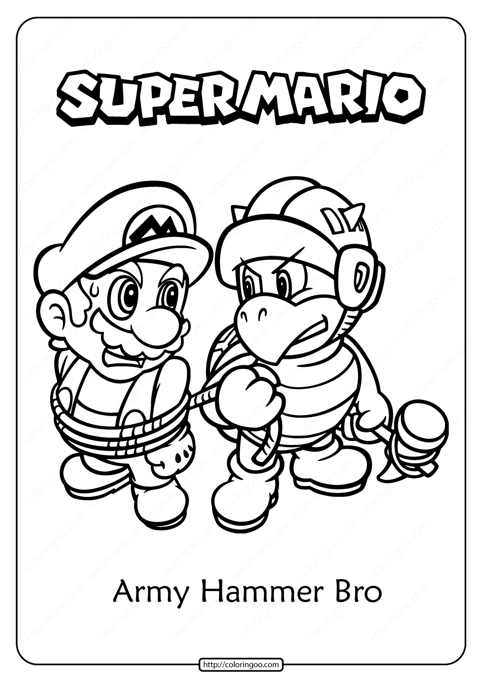 Mario Hammer Bro Coloring Pages Images