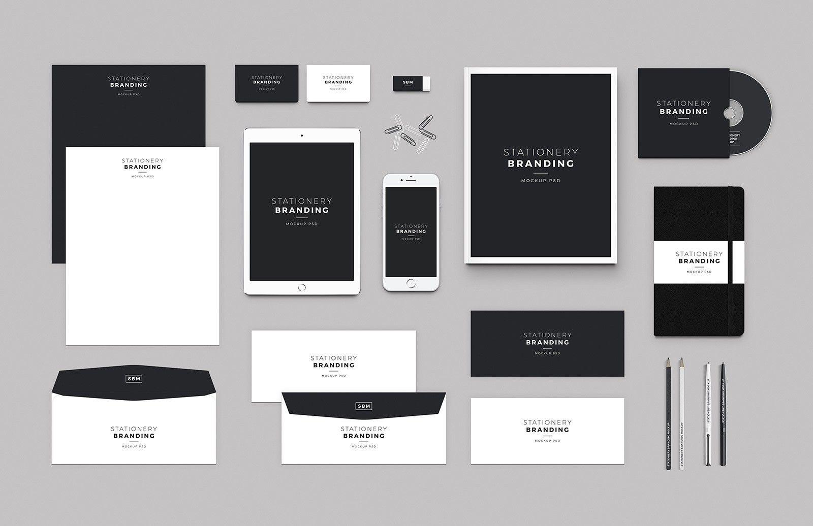 Stationery Branding Mockup Pack Branding Mockups Stationery Branding Free Stationery