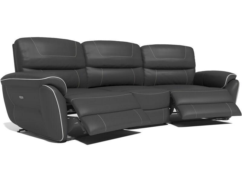 Dexy 4 Seater Curve Power Recliner Sofa Power Reclining Sofa